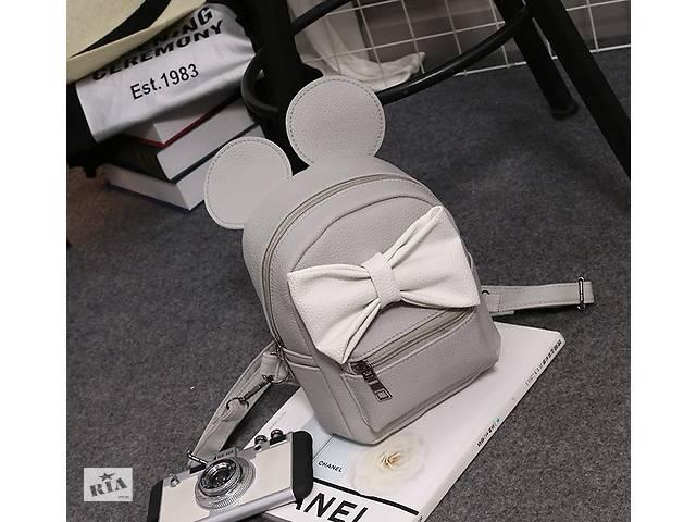 продам Маленький женский рюкзак с ушами Микки Серо-белый бу в Днепре (Днепропетровск)