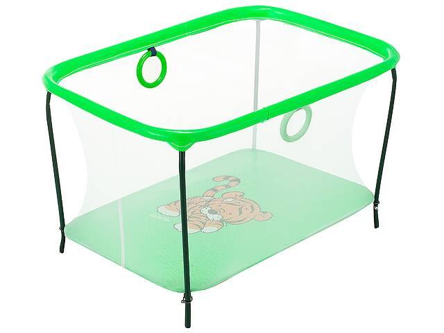 купить бу Манеж Qvatro LUX-02 мелкая сетка  зеленый (tiger) в Одессе