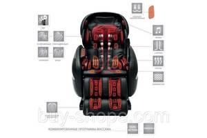 Массажное кресло Kennedy 4 с передовыми технологиями Натуральная кожа Бордовый