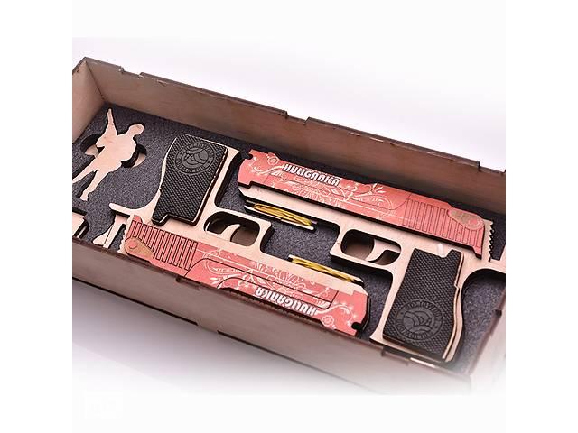 бу Набір деререв'яних резинкострілів DaisySign Gift Set HULIGANKA (red) в Одессе