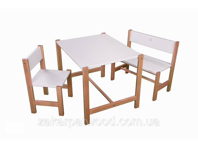 купить бу Набір дитячих меблів з дерева S1-B2 (колір білий) в Львове