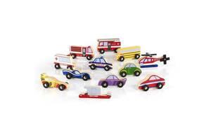 Набор детский деревянный транспорт Guidecraft Block Play к Дорожной системе, 12 шт.