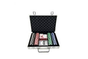 Набор для игры в покер в алюминиевом кейсе 200 фишек две колоды карт Kronos Toys TEXAS HOLDEM (spr_11019)