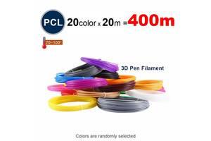 Набор пластика PCL для 3D ручек 400 метров (20 цветов по 20 метров)