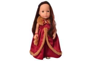 Обучающая кукла путешественница в красном платье 38 см. Подарок для девочки 3 лет
