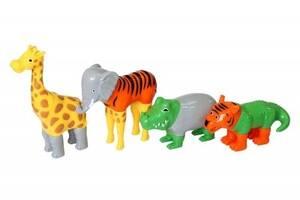 Пазл 3D Popular Playthings Mix or Match,детский магнитные животные тигр, крокодил, слон, жираф SKL17-223455
