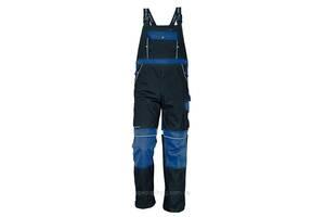 Полукомбинезон хлопок Stanmore рабочий световозвращающие ленты Темно-синий с синим