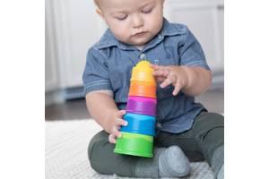 Пирамидка тактильная Чашки Fat Brain Toys dimpl stack  (F293ML)
