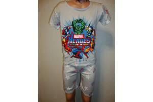 пижама для мальчика МАРВЕЛ серая