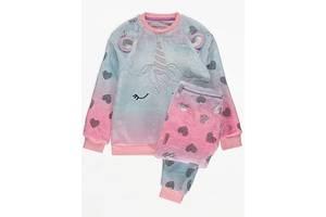 Пижама флисовая плюшевая для девочки единорог. 200905