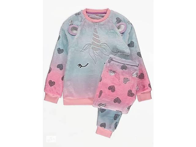 Пижама флисовая плюшевая для девочки единорог. 200905- объявление о продаже  в Киеве