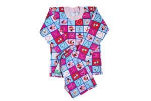 Пижамы детскиедля девочек на байке хлопок размер 68.От 3шт по 59грн
