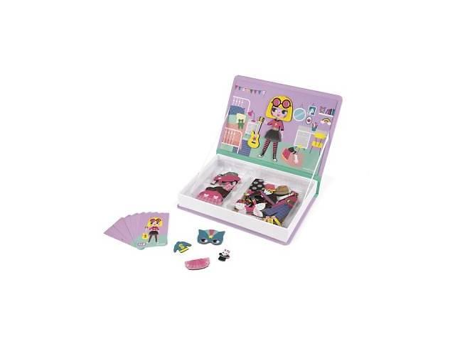 бу Развивающая игрушка Janod Магнитная книга Наряды для девочки (J02718) в Киеве