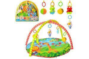 Развивающий коврик для младенца (518-17) 5 игрушек, с дугами