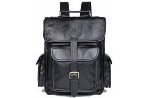 Рюкзак Vintage  кожаный Черный, Черный Vntg14967