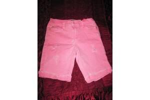 Шорты розовые джинсовые с потертостями