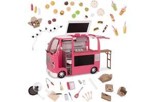 Транспорт для кукол OUR GENERATION Продуктовый фургон розовый BD37969Z