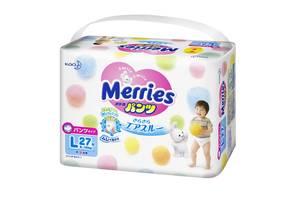Трусики-подгузники для детей от 9 до 14 кг Merries Pants L 27Pcs, 27 шт