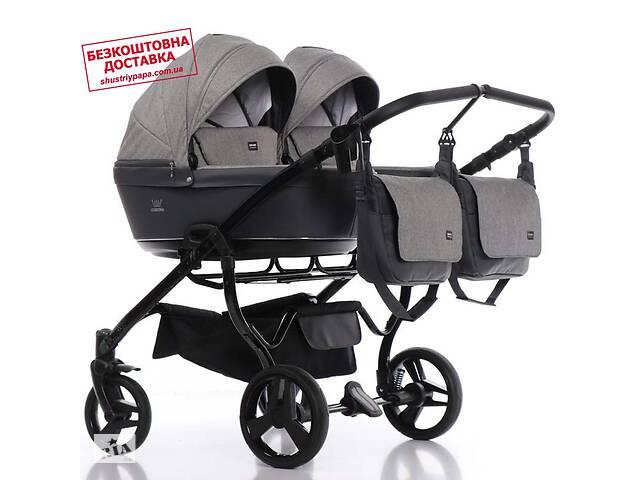 Універсальна коляска для двійні Tako Corona Duo Light 06 сіра- объявление о продаже  в Києві