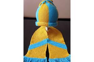 "В'язана шапочка та шарфик. Дитячий комплект ""Маленький патріот"""