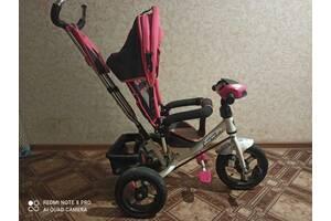 Велосипед для дівчинки з батьківською ручкою