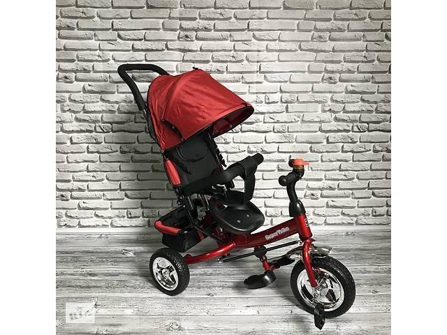 купить бу Велосипед трехколесный Best Trike 5588 детский с родительской ручкой Красный в Одессе