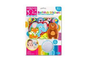 Игровой детский набор 4M Наклейки для ванной Зоопарк, 18 шт.