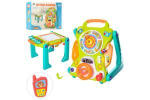 Детский игровой центр с доской для рисования 2107 каталка-ходунки