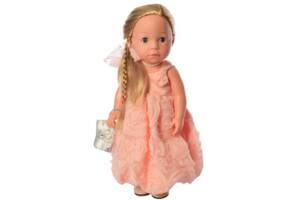 Интерактивная кукла путешественница блондина 38 см. Подарок для девочки 3 лет