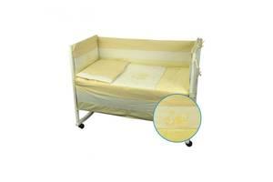 Защитное ограждение для кроватки Руно Котята Желтый 60х120 см (922Кошенята_Жовтий)