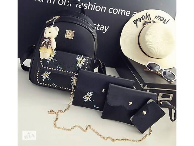 купить бу Женский рюкзак сумочка кошелек визитница набор комплект рюкзачок сумка кошелек в Днепре (Днепропетровск)