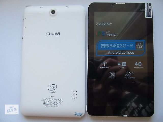 продам Chuwi VI7 IPS  1гб RAM, 3G, GPS, Intel 64bit бу в Львове