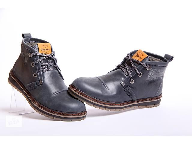 бу Clarks Urban Tribe синие  - зимние ботинки из натуральной кожи в Вознесенске