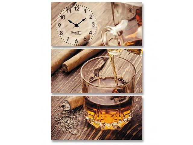 """продам Часы настенные """"Янтарный виски"""" на холсте 3х секционные бу в Одессе"""
