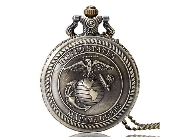 бу Карманные часы  с символикой корпуса морской пехоты США в Украинке