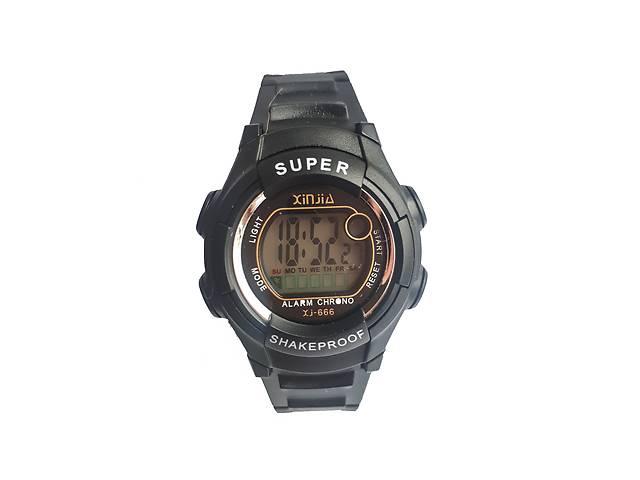 купить бу Наручний годинник Xinjia 666 спортивні електронні Чорні в Києві 0bbdf4b48def5