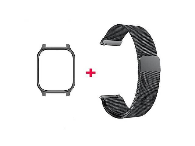 Amazfit GTS Комплект для смарт годин (металевий магнітний ремінець і бампер), Black- объявление о продаже  в Запоріжжі