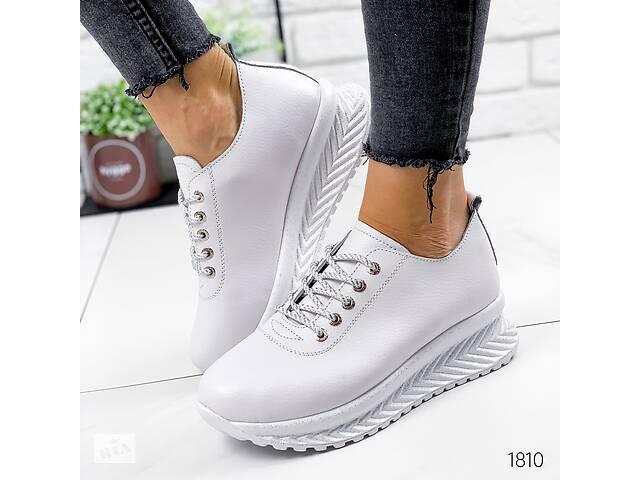 продам Белые кожаные кроссовки, женские кожаные кроссовки, кроссовки кожа, женские кроссовки 39-41р код 1810 бу в Ровно