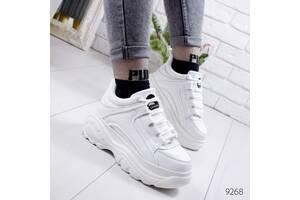 ТОЛЬКО 37р. Белые женские кроссовки в стиле Buffalo 37р.-24 см