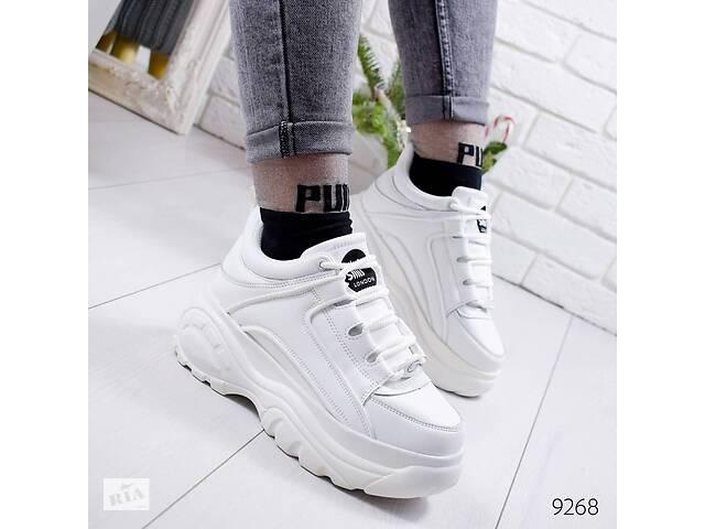 продам ТОЛЬКО 37р. Белые женские кроссовки в стиле Buffalo 37р.-24 см бу в Ровно