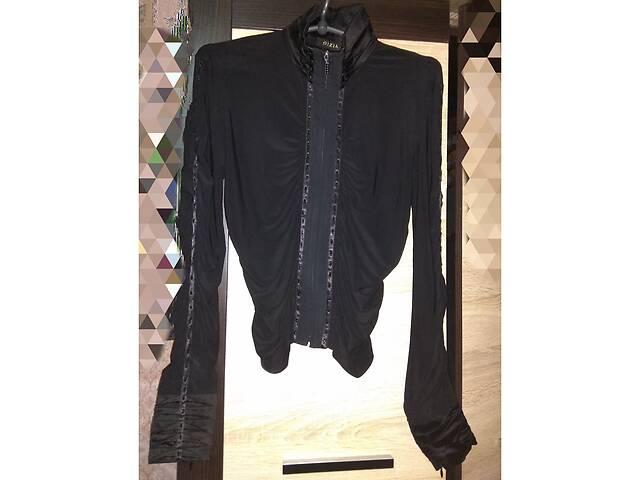 бу Блуза черная на резинках с камешками. в Харькове
