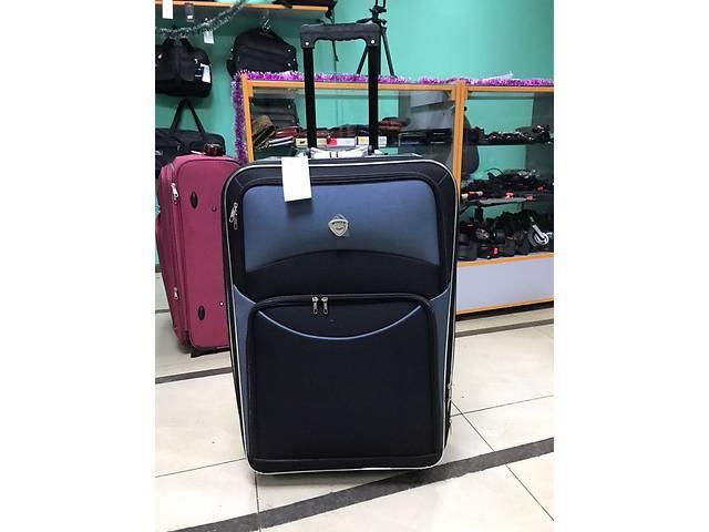 Большой чемодан, на 8 колес, все колеса на одной оси, надежность системы говорит сама за себя, черный\серый- объявление о продаже  в Конотопе