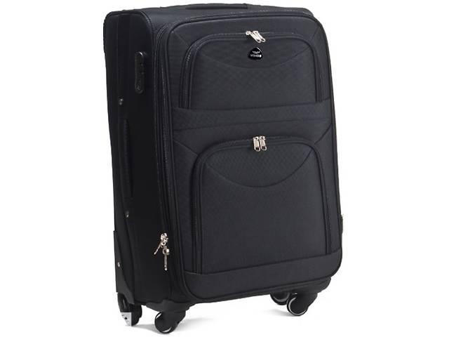 купить бу Большой чемодан тканевый Wings черный на 90л в Киеве
