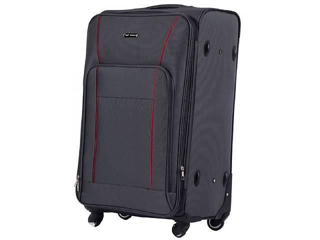 купить бу Большой чемодан тканевый Wings серый на 90л в Киеве