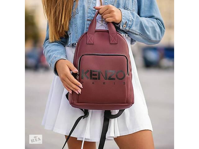 Бордовый рюкзак KENZO- объявление о продаже  в Каменец-Подольском