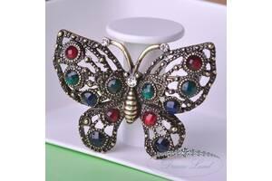 "Брошь с камнями женская ""Butterfly"""