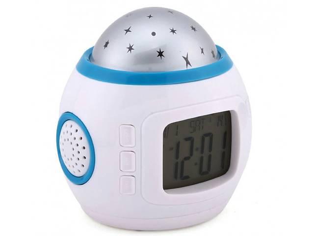 купить бу Часы с будильником и проектором звездного неба UKC 1038 (200641) в Києві