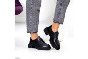 Черные кожаные женские туфли, туфли Arthur кожаные, кожаные женские туфли 36-40р код 11382