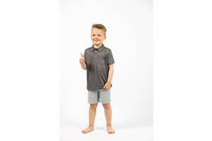 Детская футболка поло на мальчика серый меланж Cat & Jack (США)