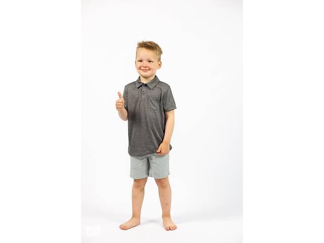 бу Детская футболка поло на мальчика серый меланж Cat & Jack (США) в Ивано-Франковске